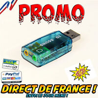 Adaptateur Carte Son Externe Usb 2.0 3d Stéréo 5.1 Plug And Play Virtual Sound
