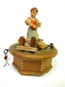 """Vintage  ANRI Music Box Thorens Swiss Made """"Never on a Sunday"""" Parts or Repair"""