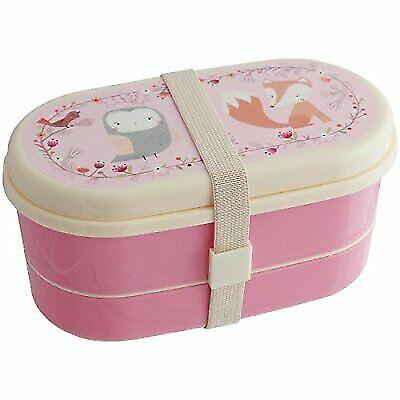Sass /& Belle MAXI005 Woodland Friends//Fox Pink Lunch Box