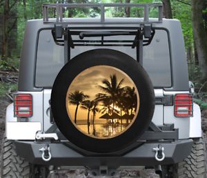Spare wheel cover Beach with Sunset Tire Cover