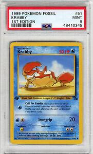 1999 Fossil  Krabby #51 1st Edition PSA 9
