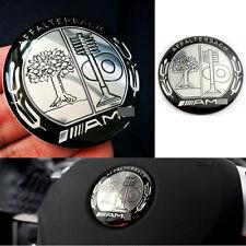 1 Black Appletree AMG Steering Wheel Badge 52mm Emblem Sticker For Mercedes Benz