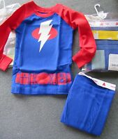Baby Gap Outlet Blue Red Lightning Bolt Long Sleeve Pajamas 6-12 Or 18-24 Mo