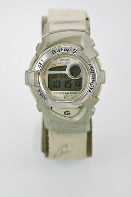 Casio Baby G Uhr Unisex Chrono Alarm Datum Hell 24hr Grau 100m Nylon Quarz Hell Und Durchscheinend Im Aussehen