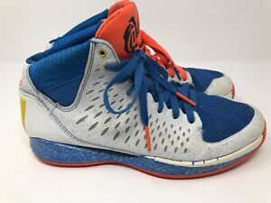 official photos 320d0 7ea47 Image is loading Adidas-D-Rose-4-Blue-white-Coral-Chicago-