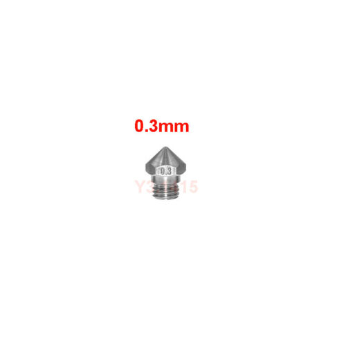 Stainless Steel MK10 Nozzle  M7 for 1.75mm 3D Printer Parts /& Accessories Repair