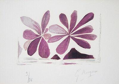 """GEORGES BRAQUE Signed 1963 Original Color Lithograph - """"Fleurs de l'air"""""""