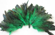 """20g (0.7ozs) 4-6"""" half bronze emerald schlappen coque rooster feathers ~200pcs"""
