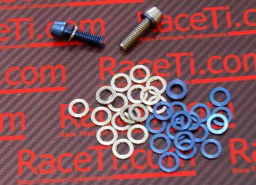 M6 Blue or Natural Diameter same as bolt head Titanium Stem bolt Washers M5