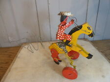 Vintage handmade wooden childs pushalong toy from Africa