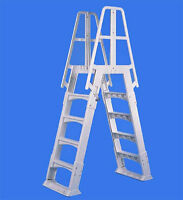 Vinylworks Slide Lock A Frame Ladder For Aboveground Swimming Pool Sla-w on sale