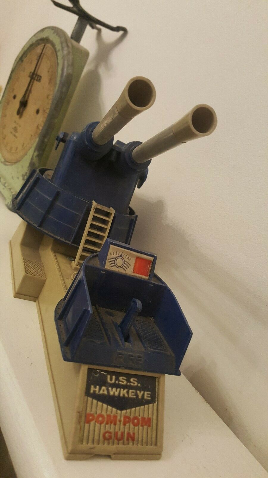 1960s Retro Vintage USS Hawkeye Pom-Pom Gun Military Toy RARE