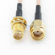 1 x 8in SMA Male Straight to N Female Bulkhead RF Pigtail RG405 0.086 Cable USA