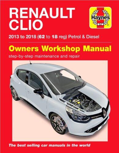 Renault Clio Repair Manual Haynes Manual Workshop Manual 2013-2018