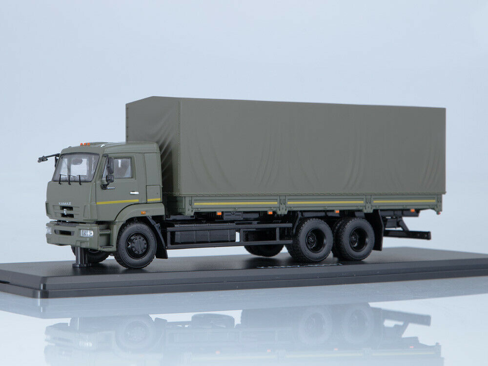 1 43 board camion Kamaz 65117 Restiling russe 6x4 board camion Russie Diecast ST