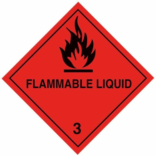 100mm x 100mm various labels available 250 x Hazard warning diamonds on a roll