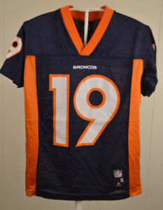 3096e49c4699 Reebok Denver Broncos Jersey  19 Eddie Royal Youth Small (8) Blue ...