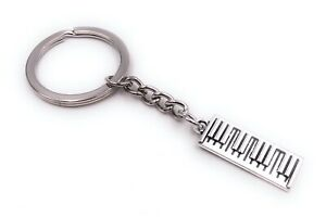 Teclado-Instrument-Mobil-Llavero-Colgante-Plata-de-Metal