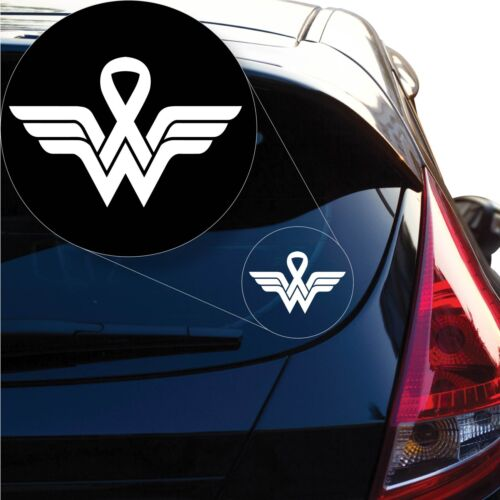 Wonder Woman Breast Cancer Decal Sticker for Car Window Laptop and More # 1231