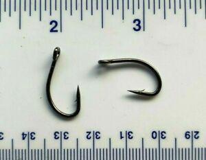 100 Matzuo 130010 Black Live Bait O/'Shaughnessy Fish Fishing Hooks size 4