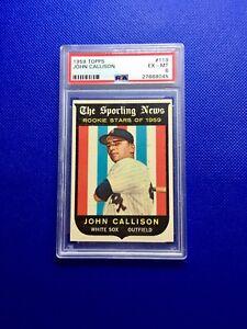 1959 Topps #119 John Callison Chicago White Sox PSA 6 EX-MT Free Shipping
