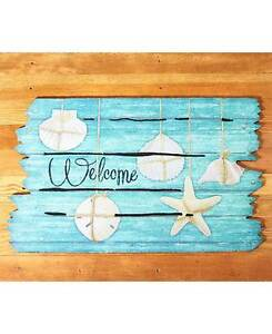 Etonnant Seashell Beach Doormats Wooden Deck Coastal Shore Lake