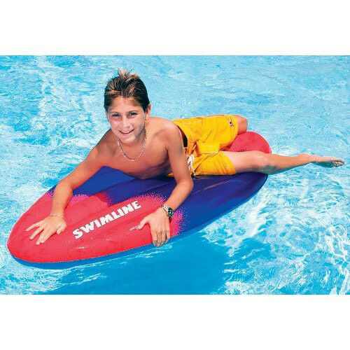 """58/"""" Super Surfer INFLATABLE SURFBOARD Beach Pool Swimming Float Board 4+yrs 9065"""