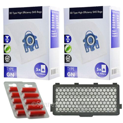 filtre hepa pour miele S8310 S8320 cat /& dog vide frais 10 sacs Type 3D GN