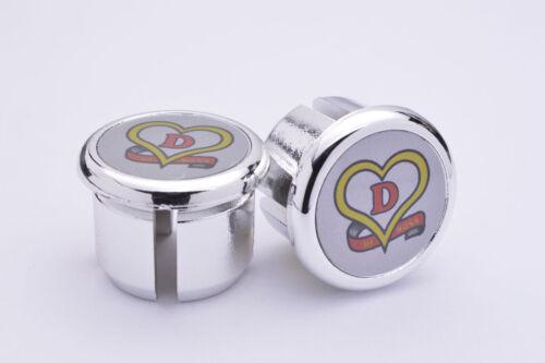 De Rosa silver Plugs Caps Tapones guidon bouchon lenker vintage style New