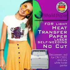 Laser Iron On Free Style Light Heat Transfer Paper Light Fabric 50 Sheets A4