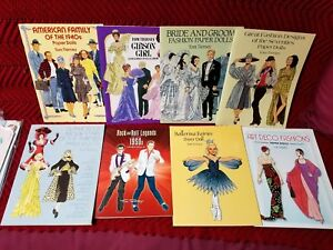 Vintage Lot of 8 Uncut & Unused Paper Dolls, American Family of the 1940's, +7