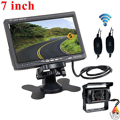 Digital Wireless Rear View Backup Camera System 7 Lcd For