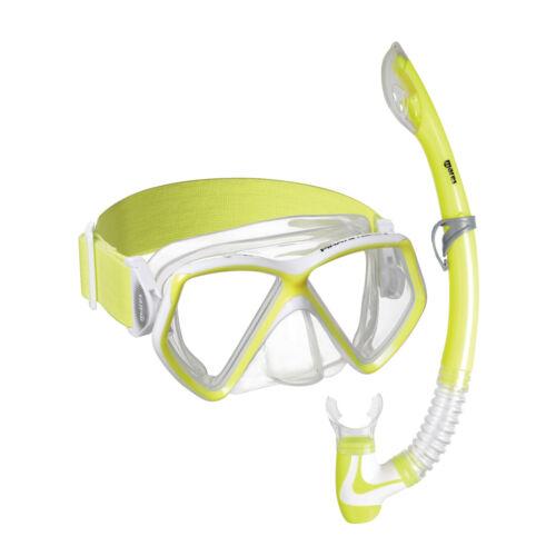 Mares Pirate-Neon Kinder Schnorchelset Tauchbrille und Schnorchel