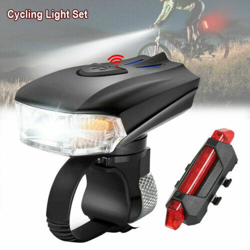 Rear Lamp Cycling Rechargeable Bicycle LED Headlight USB Bike Head Light Front