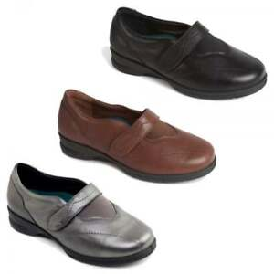 Padders-KIRSTEN-Ladies-Womens-Leather-Super-Wide-4E-6E-Fit-Touch-Fasten-Shoes