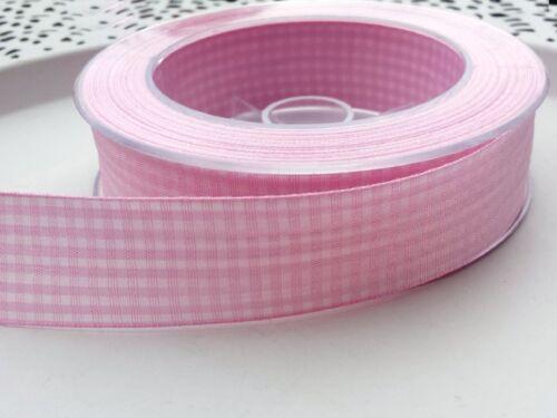 2m Schleifenband rosa kariert Karoband Band Karo Landhaus Baby 0,70€//m