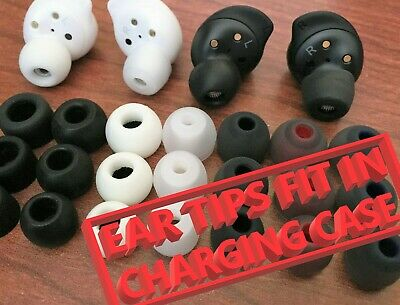 Set of Silicone Eartips for Earbuds Headphones kwmobile 4x Replacement Ear Tips Compatible with Samsung Galaxy Buds//Buds Plus