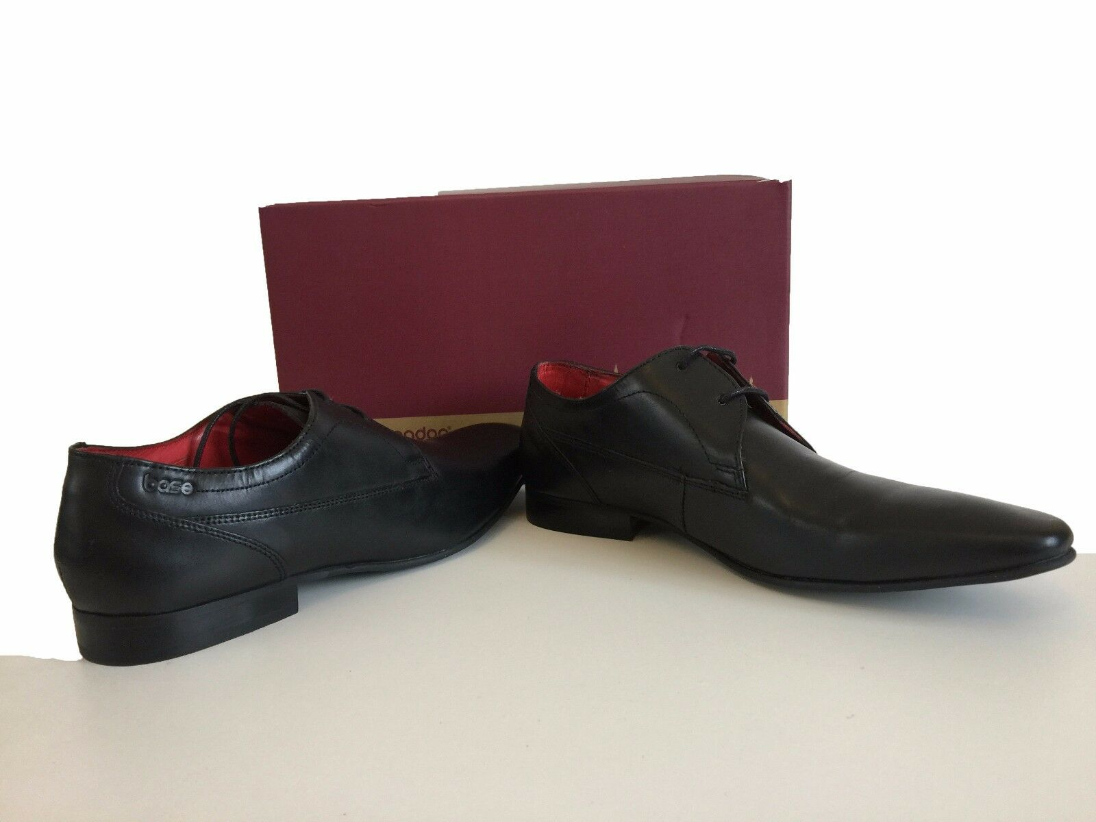 BASE LONDON BLACK Schuhe BASE TAILOR PLAIN GIBSON Schuhe BLACK SIZE 9 be9653