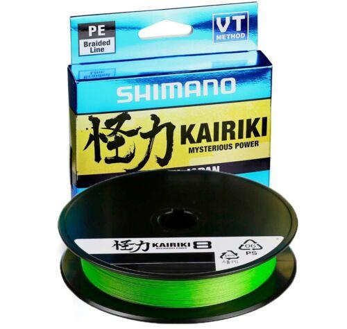 Choice of Diameter Shimano Kairiki VT Mantis Green 150m Fishing Line