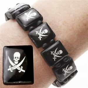 10-Pirate-Wrist-Bands-Childrens-Party-Bag-Filler-Toys