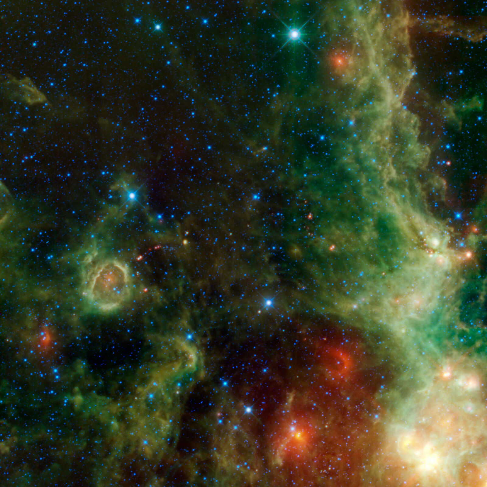Cassiopeia Perseus WISE IC 1795 Hubble JPL NASA space telescope photo PIA13044