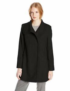 Larry-Levine-Women-039-s-Wool-Herringbone-Coat-Medium