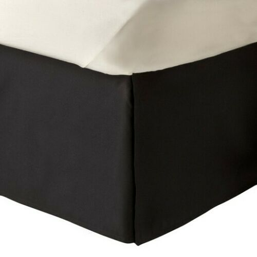 """Split Corner Tailored Bed Skirt 610 TC Solid Cotton US Bed Size Drop 12/"""" 13/"""" 14/"""""""