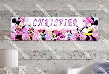 Personalized/Customized Minnie Mouse #2 Name Poster Wall Art Decoration Banner
