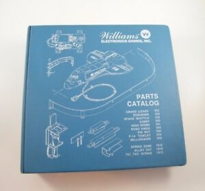 WILLIAMS BLUE BINDER: PINBALL PARTS CATALOG, MACHINE, NICE