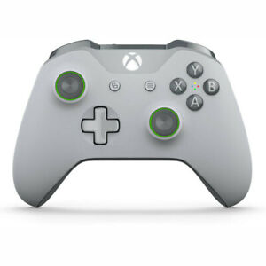 Xbox One Grey & Green Wireless Controller NEW