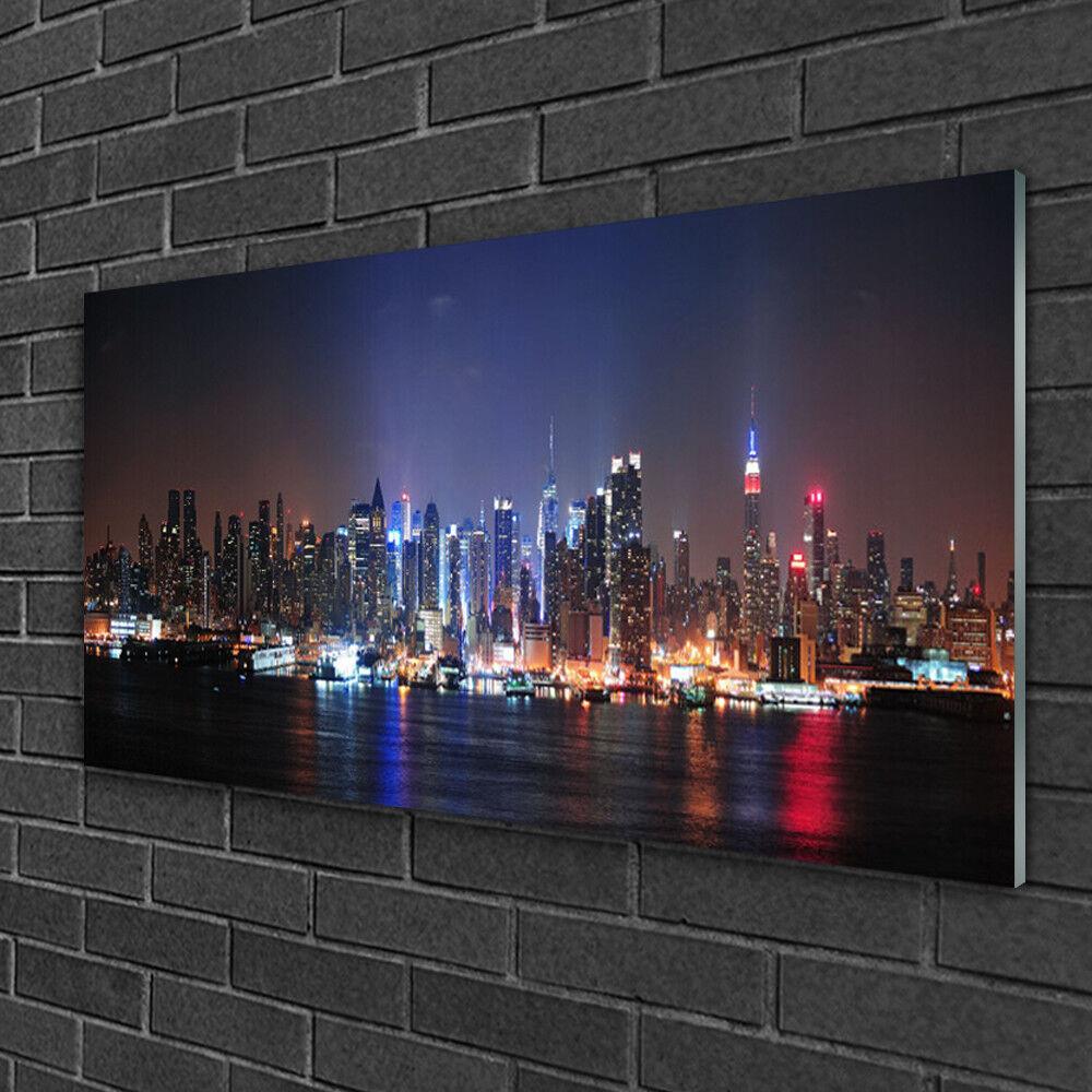 Immagini in vetro 100x50 Muro Immagine Stampa su vetro città edificio acqua