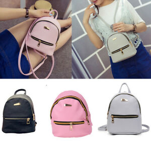df065157e2bd Women PU Leather Backpacks Mini Cute Travel Rucksack Handbags School ...