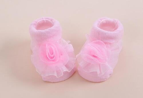 Newborn Baby Girls soft bodysuit+headband+socks 3pcs party Jumpsuit photo props