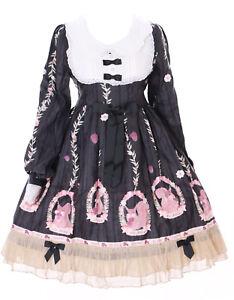 2b6eea56dd1f jsk-20-3 Black Squirrel Cute Pastel Goth Lolita Long Sleeve Dress ...